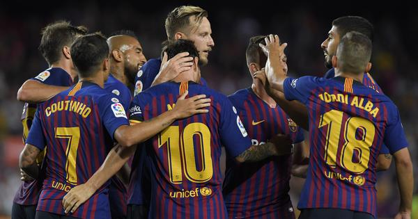 La Liga roundup: Messi scores 2 to start Barca title defence, Cazorla plays first game in 2 years