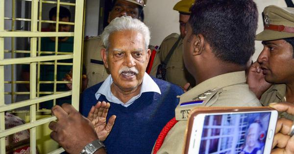 Charges against activist VV Rao echo cases he's faced for 45 years – but never been found guilty of