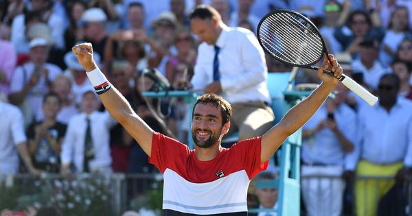 Marin Cilic comes from set down to stun Novak Djokovic and lift Queen's Club title