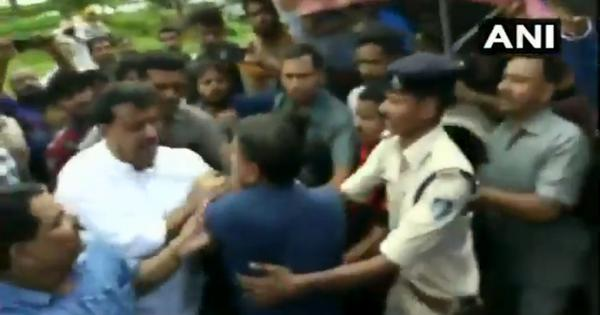 Watch: Congress MLA slaps BJP leader over credit for compensation to family of electrocution victim