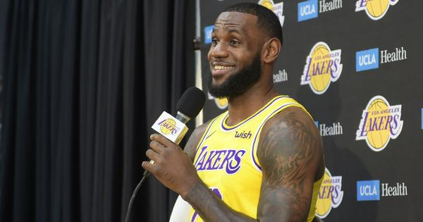 Long way to go to challenge Golden State Warriors, LeBron James tells Lakers fans