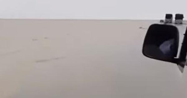 Watch: It isn't often that heavy rains lead to floods in a desert