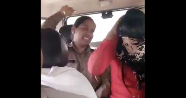Meerut: Police personnel caught on camera harassing woman for alleged relationship with Muslim man