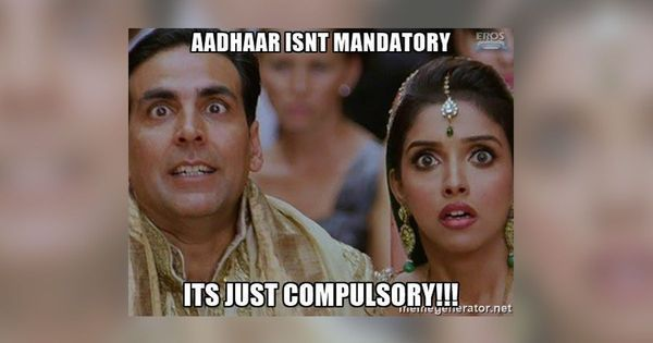 As Aadhaar becomes mandatory for driving licences, hilarious #AadhaarMemes flood Twitter