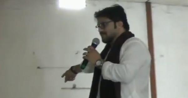 'I can break one of your legs': BJP minister Babul Supriyo threatens man at public event