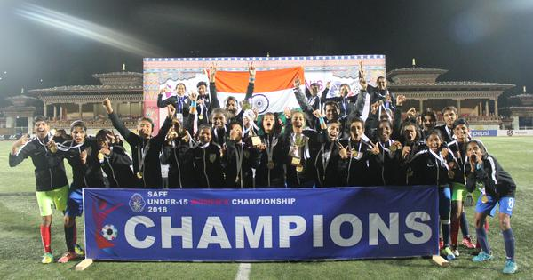 Football: India triumph at the Women's SAFF U-15 Championship, defeat Bangladesh 1-0 in final