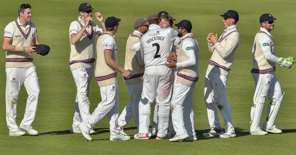 Watch: English county Somerset's Craig Overton and Trescothick combine to complete unique hat-trick