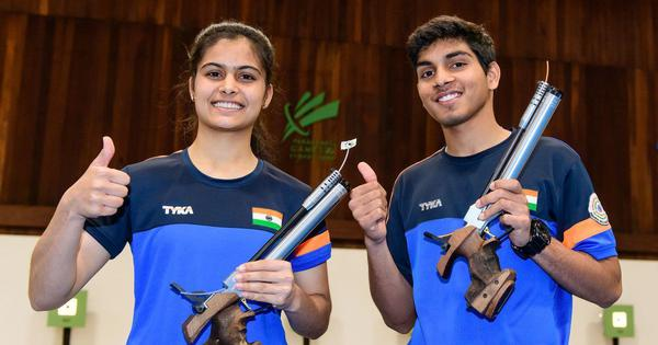 Shooting Hopes meet: Manu and Anmol win 10m air pistol mixed event, India finish with 11 golds