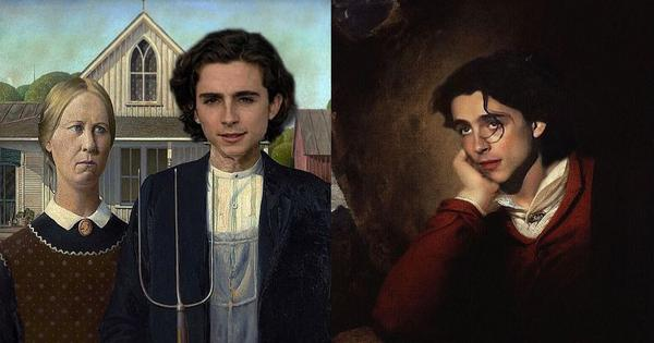 An Instagram handle is inserting Timothee Chalamet into famous paintings