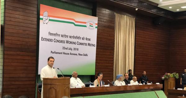 The big news: Rahul Gandhi chairs first CWC meet as Congress president, and nine other top stories