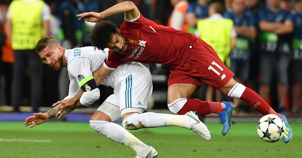 Mo Salah grabbed my arm first: Sergio Ramos refuses to take blame for Liverpool star's injury