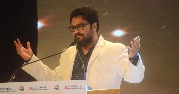 भाजपा सांसद बाबुल सुप्रियो ने फिर आपा खोया, कहा - टांग तोड़ कर बैसाखी पकड़ा दूंगा