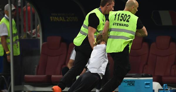 Pussy Riot squad members released from jail after invading pitch during World Cup final