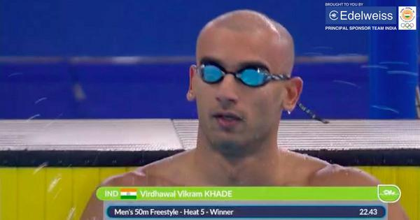 Asian Games: Virdhawal Khade betters own national record to qualify for men's 50m freestyle