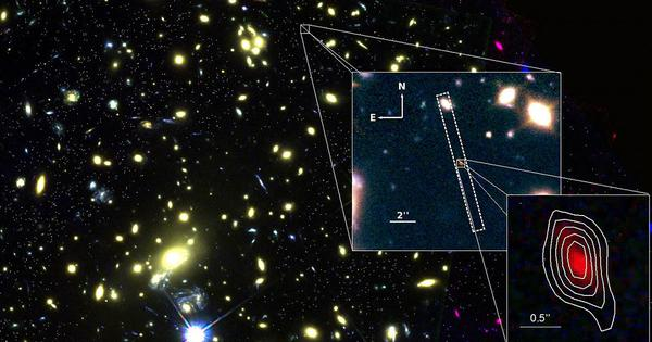 When did the lights first come on in the universe? A galaxy close to the dawn of time gives a clue