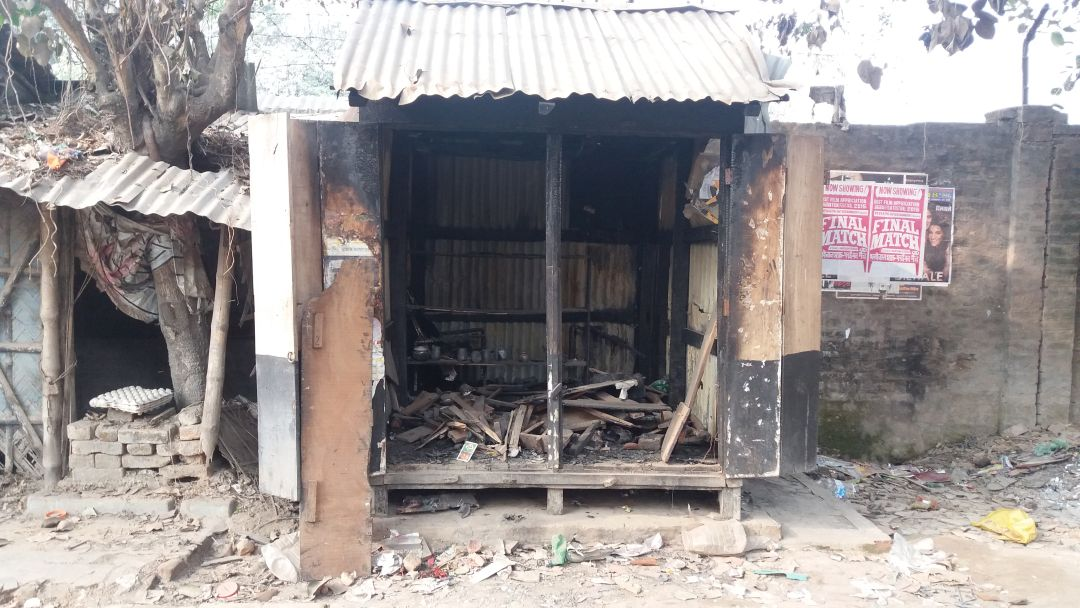 A shop torched in Baliadanga