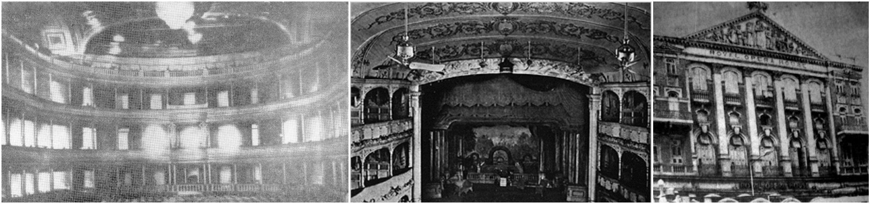 Archival photos of the Royal Opera House.