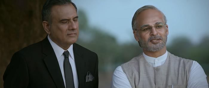 Boman Irani and Vivek Anand Oberoi in PM Narendra Modi (2019). Courtesy Legend Studios.