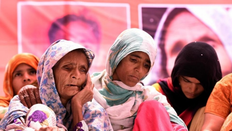 The family of Pehlu Khan, who was lynched in Alwar, Rajasthan, in April. (Photo credit: HT).