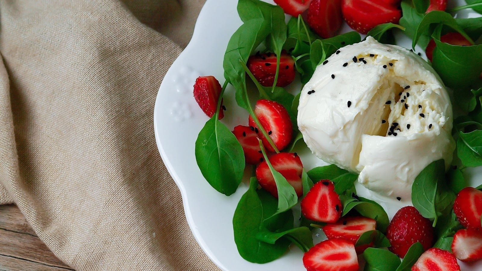 Burrata's uniqueness lies in its soft buttery centre, made from fresh cream and shredded mozzarella. Photo credit: Vallombrosa Cheese/Facebook