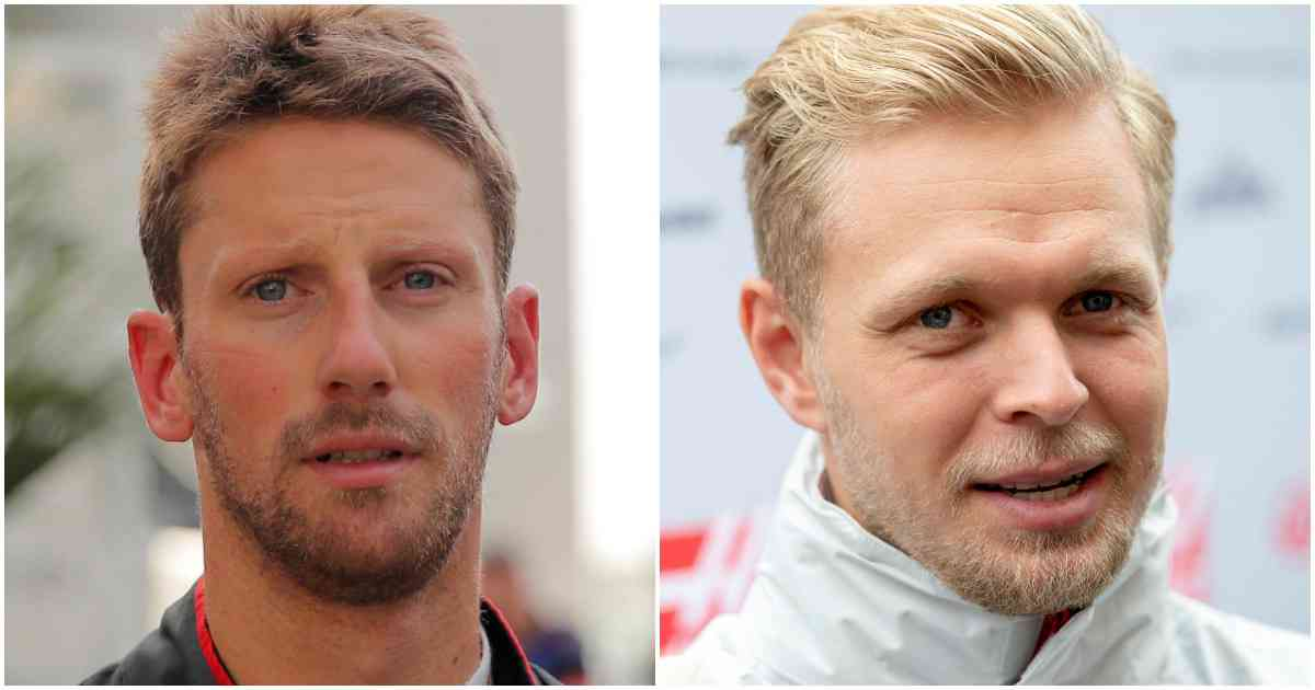 Romain Grosjean (L) and Kevin Magnussen - Reuters