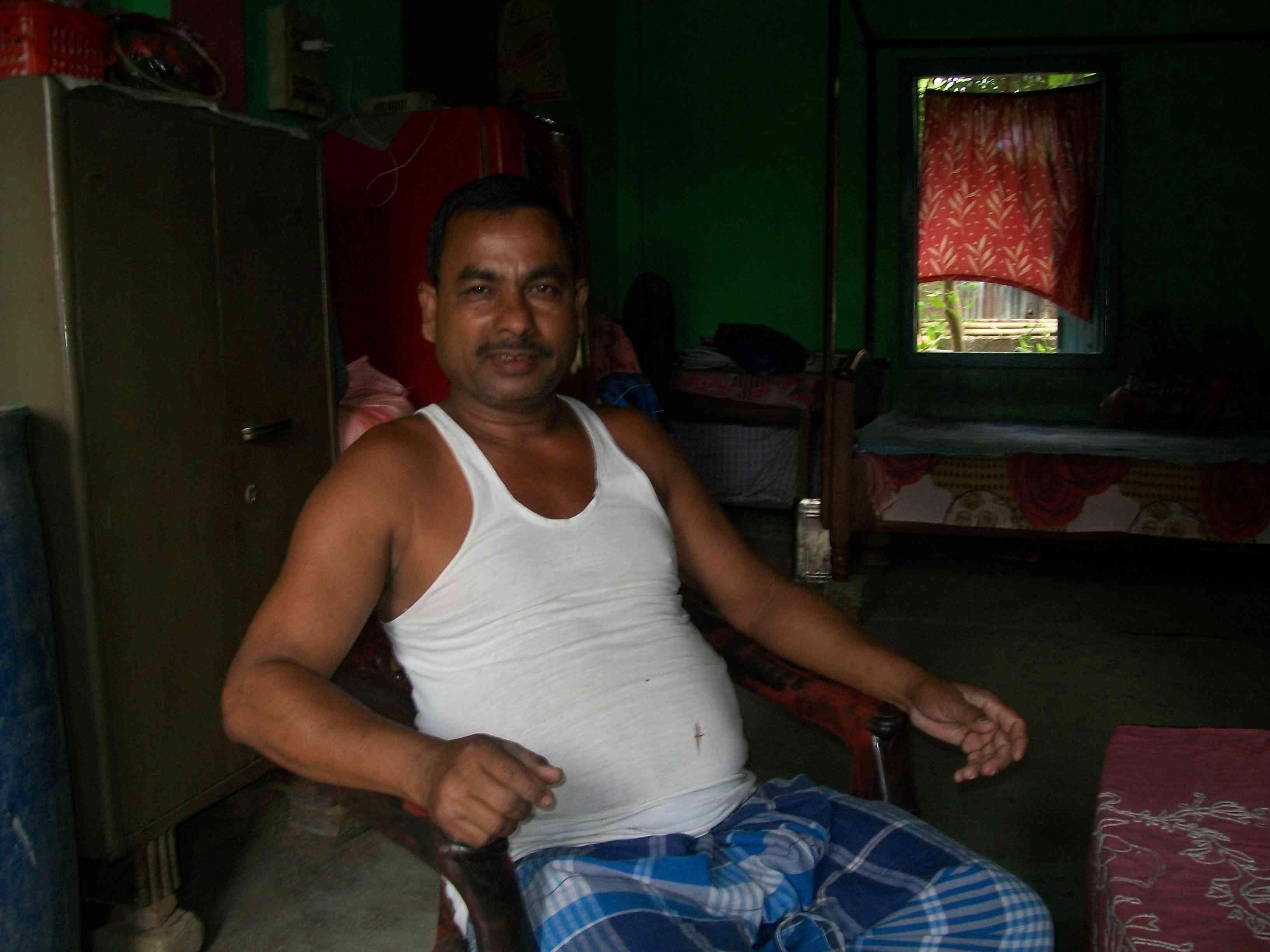 Patauddin Laskar says demonstrations by the Bajrang Dal have struck fear in the local Muslim community. (Photo credit: Ipsita Chakravarty).