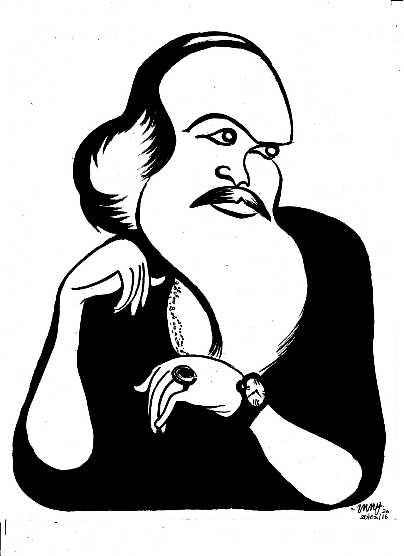 EP Unny's caricature of Aravindan.