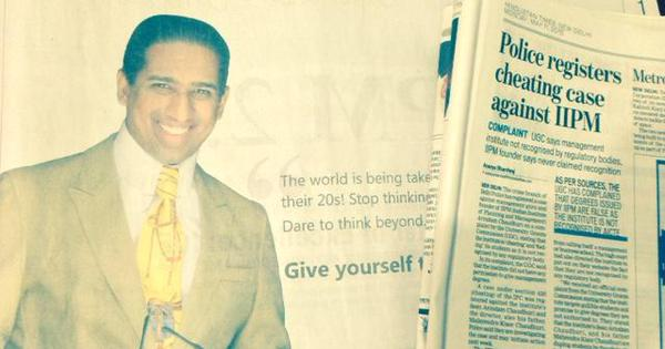 How IIPM and Arindam Chaudhury used the defamation law to hide the truth