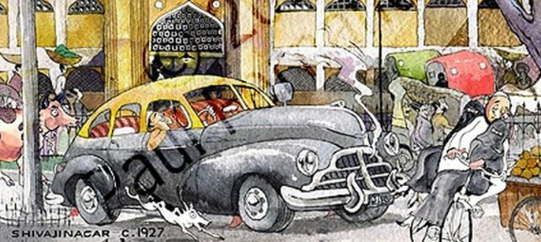 Cartoonist captures life in Bangalore before it became the IT city