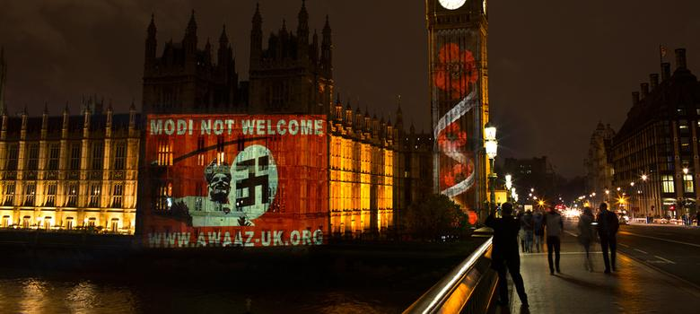 Modi Not Welcome: Meet the UK activists who projected their message on the British parliament