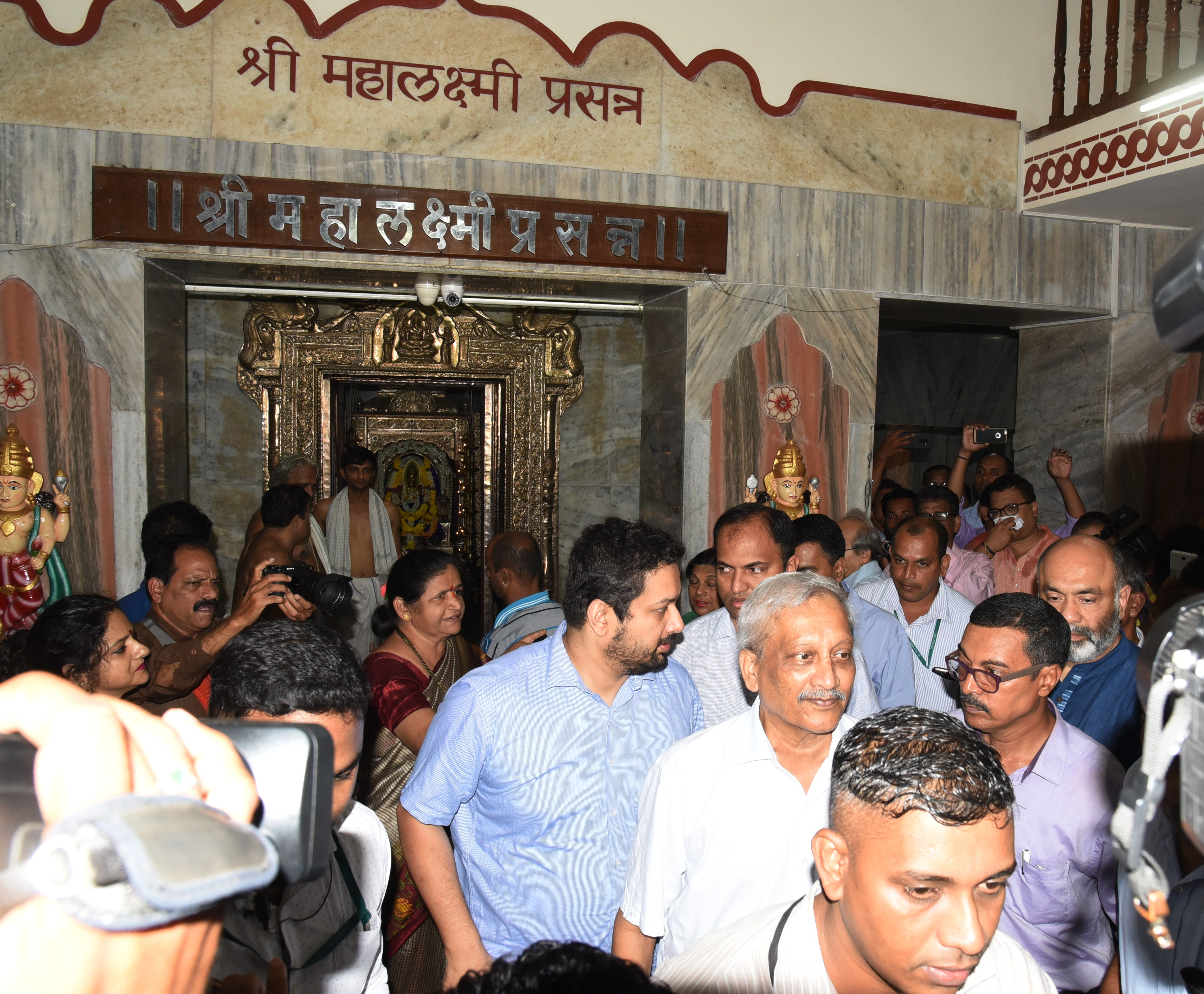 Manohar Parrikar started his day on Friday with temple visits.