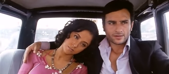 Urmila Matondkar and Saif Ali Khan in Ek Hasina Thi (2004). Courtesy Ram Gopal Varma/K Sera Sera Productions.