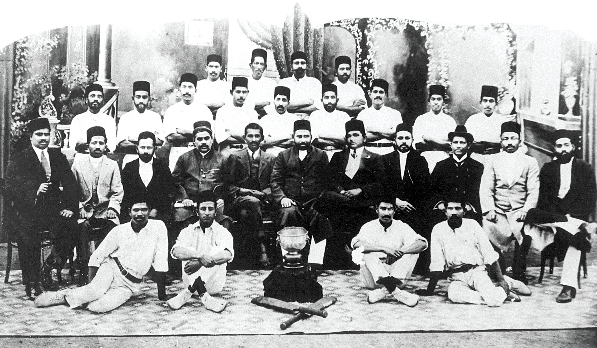 Gandhi isn't exactly known for his abilities as a sportsman. Yet, here he is with the Grayville Cricket Club in Durban, South Africa. Cricket featured again in Gandhi's life during his career as a politician in India, while World War II was raging on. There was a cricket tournament organised in Bombay city at the time called The Pentangular, which featured teams representing communities: Europeans, Hindus, Muslims, Parsis and the Rest (Indian Christians mainly, but also Buddhists and Jews). Recognising the communal consciousness that the tournament was encouraging, Gandhi moved in to stop it in 1940. In 1946, the Pentangular was abandoned and the Ranji trophy, played between provinces, took its place as India's premier domestic cricket tournament. Credit: Alamy