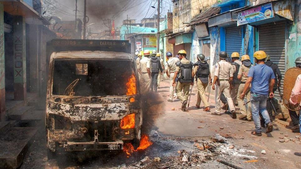 In Asansol, the Ram Navami celebrations in March were accompanied by riots and violence. (Credit: PTI)