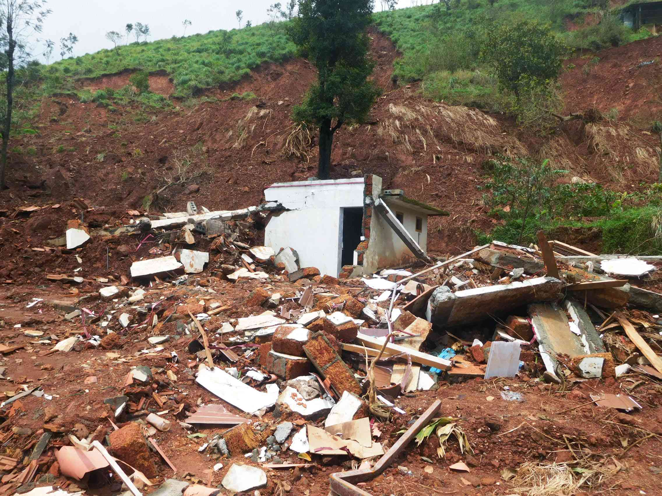 The landslide that struck Makkimala on August 9 took Zeenath and Razak unawares. They died and their house lies in ruins.