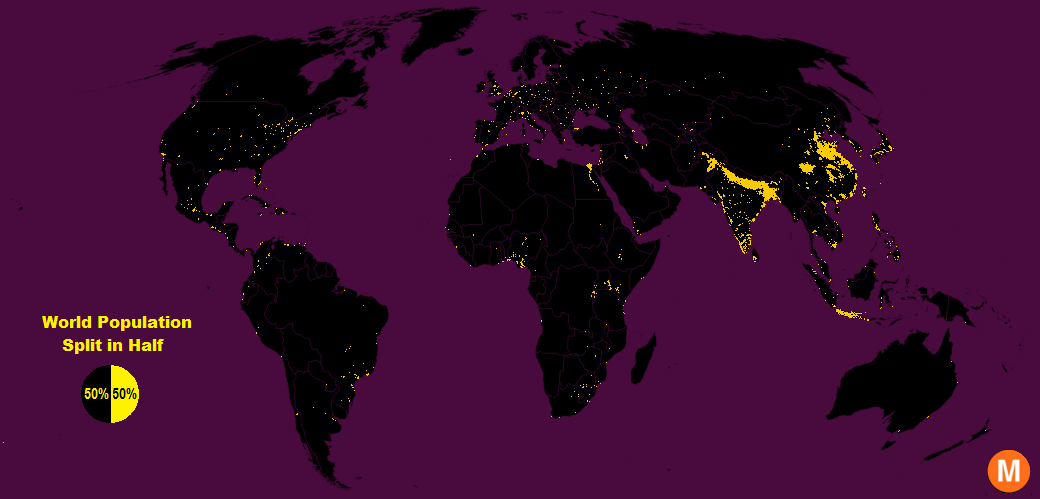 Two Maps That Show You Just How Crazily Crowded India Is Compared - India and us on a map