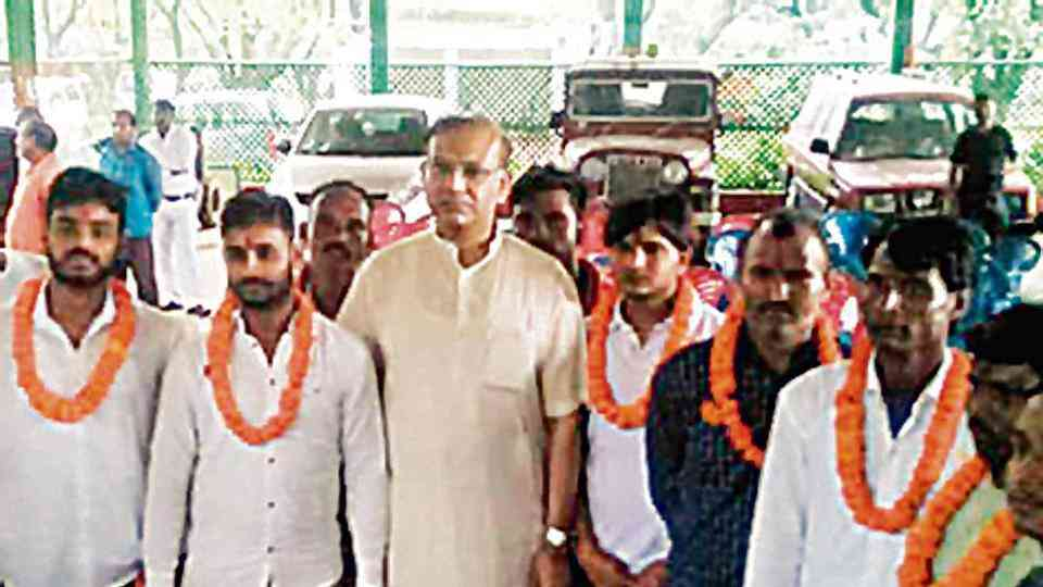 In July, Union minister of state for Civil Aviation Jayant Sinha garlanded seven convicted cow vigilantes when they were released on bail.