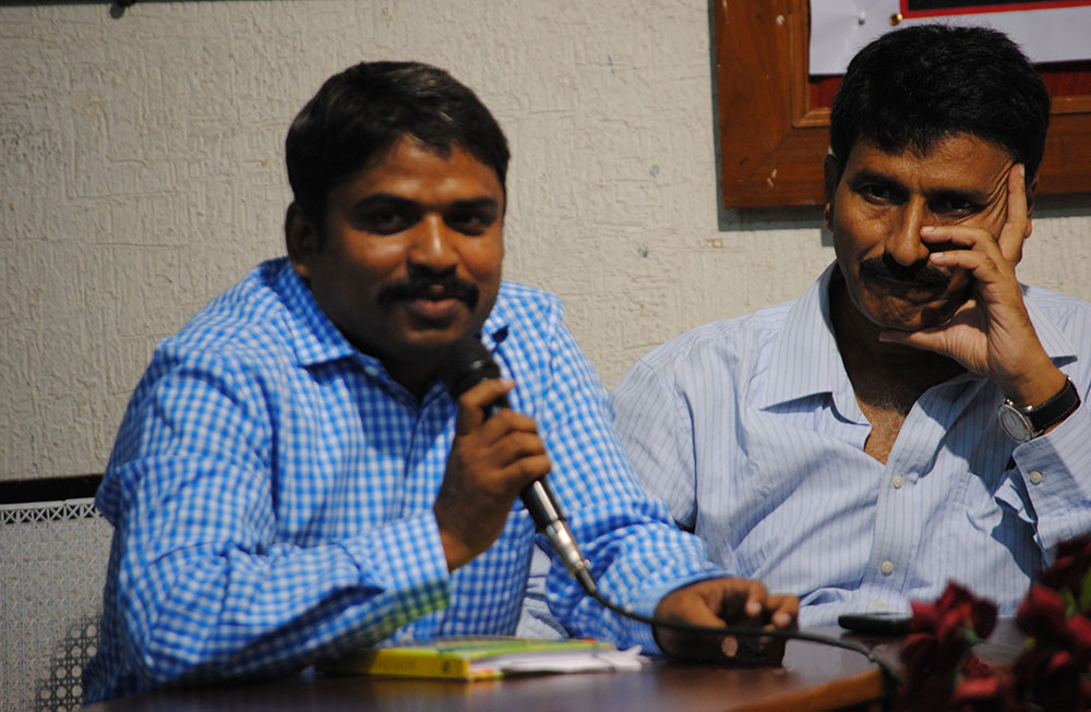 Durga Prasad and Chikkudu Prabhakar. Photo credit: Malini Subramaniam