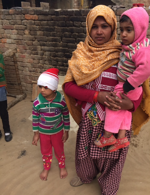 Reena with her two sons, who were delivered at a private nursing home. (Photo: Menaka Rao)