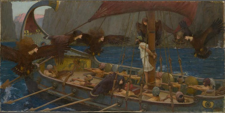 Ulysses and the Sirens by John Waterhouse (1891). Photo credit: National Gallery of Victoria