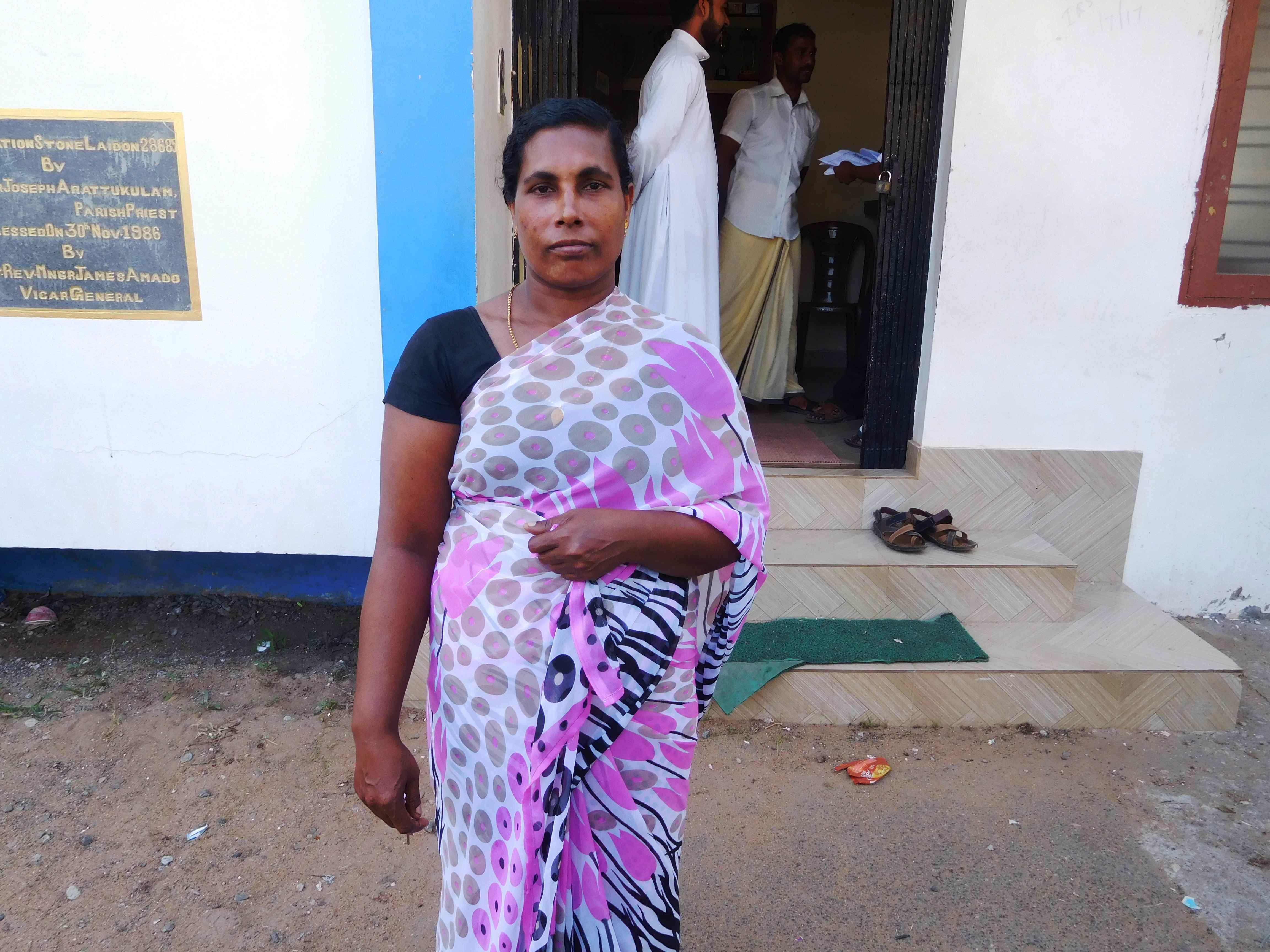Mary Bindu's husband Arokyam has been missing since the cyclone struck.