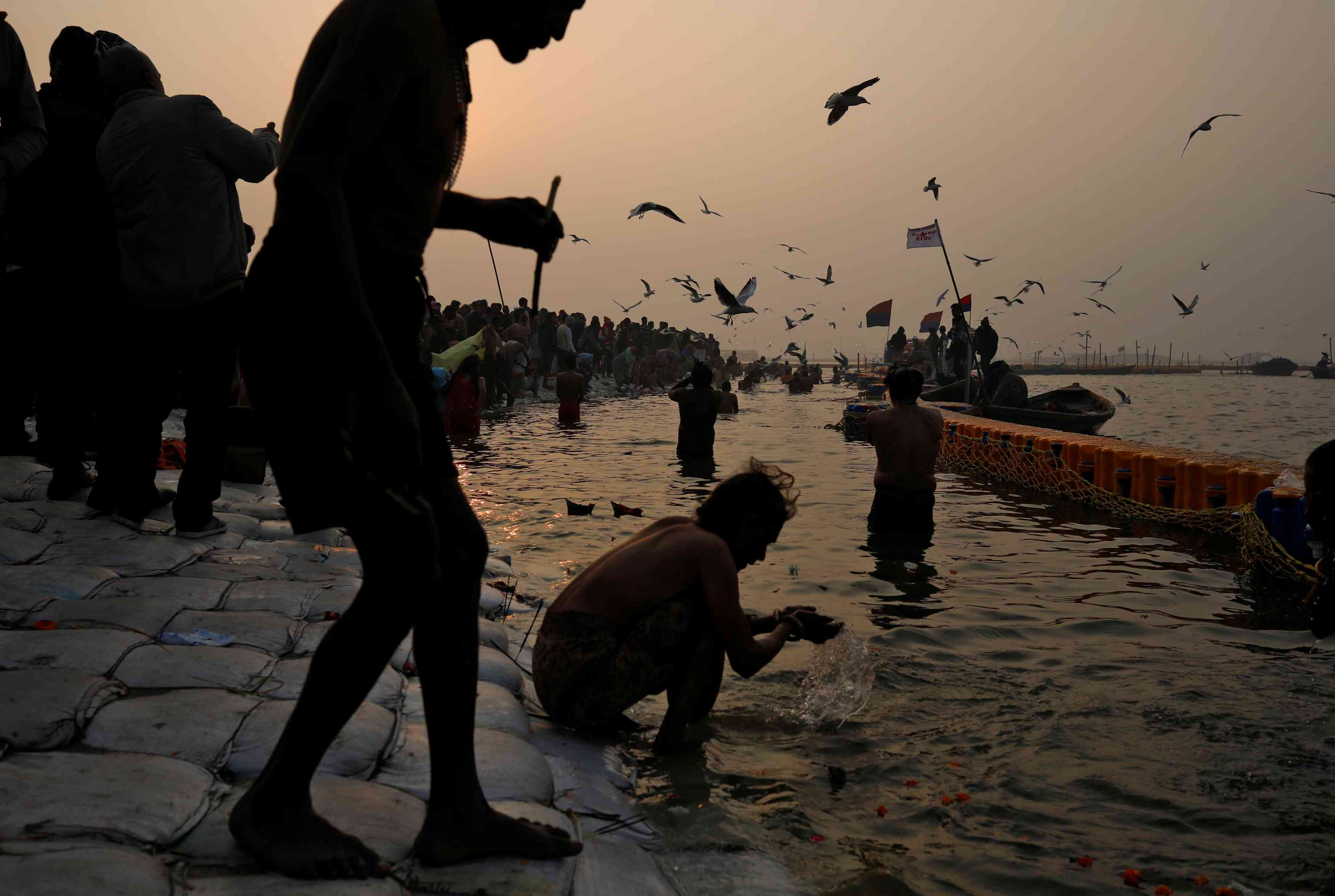 Around 12 crore people are expected to visit the Kumbh mela between now and March 4 when it concludes. Credit: Danish Siddiqui/Reuters