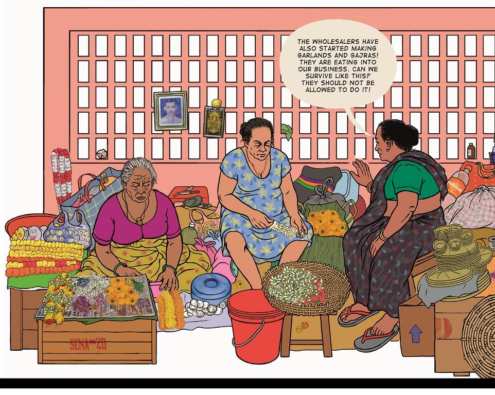 Flower market. Image credit: Orijit Sen