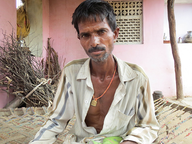 Paras Rawat who worked in Bhilwara's sandstone mines as a child labourer has silicosis. He has watched his father, uncle and aunt die from the same disease.