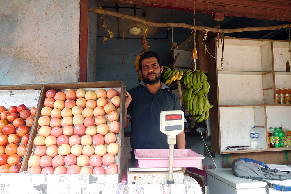 Abdul Rahouf inside his fruit shop in BC Road in Dakshina Kannada. Photo credit: TA Ameerudheen