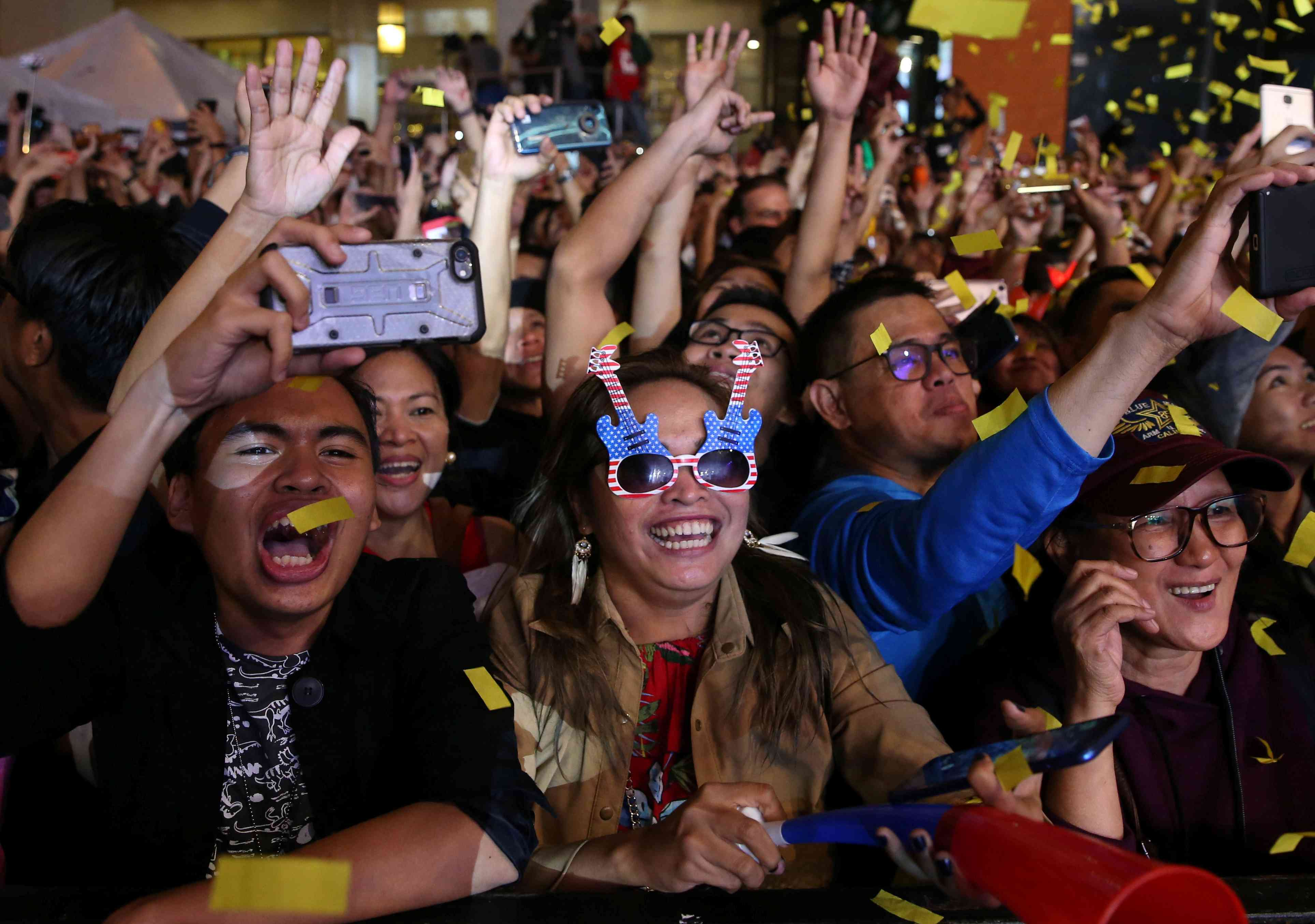 Philippines: Revellers celebrate at a New Year's Eve party in Quezon City. (Eloisa Lopez/Reuters)