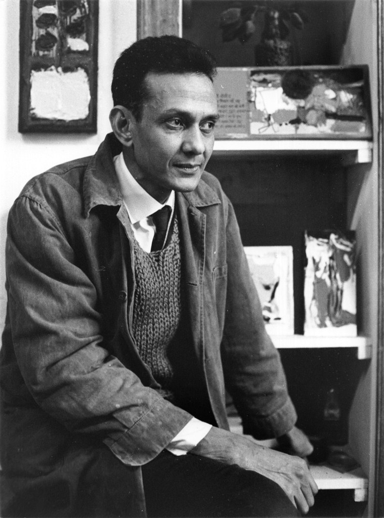 S.H. Raza, Portrait, Photographer Unknown, circa 1960. Image courtesy: Galerie Lara Vincy, Paris.