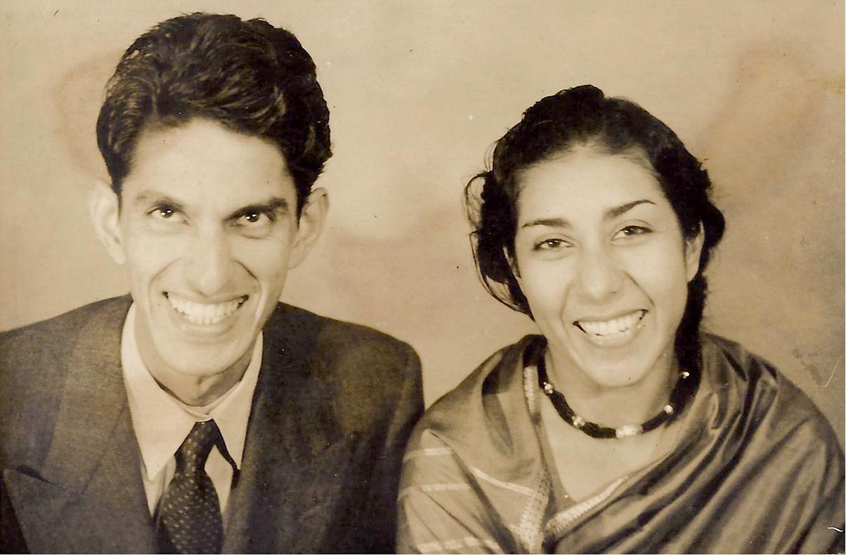 Obaid and Asiya Siddiqi, 1955. (Photograph courtesy: Diba Siddiqi).