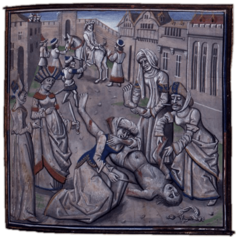 The gory end of Andronicus. National Library of France