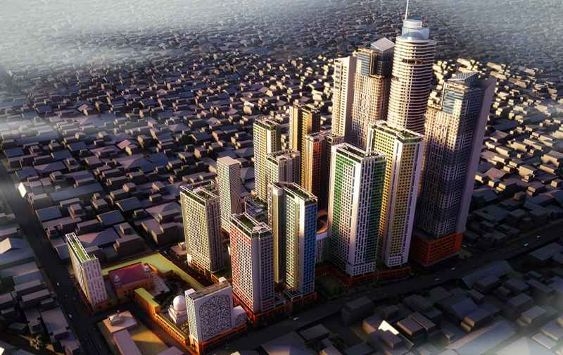 The proposed Bhendi Bazar redevelopment project. Credit: sbut.com